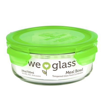 Wean Green's Tempered Glass Meal Bowl-22oz/660ml - Pea ()