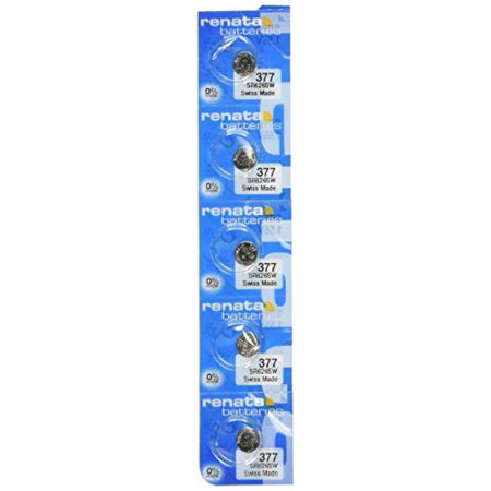 Renata 377 SR626SW SR626 AG4 LR626 Silver Oxide Mercury Free Electronic Batteries x 5 ()