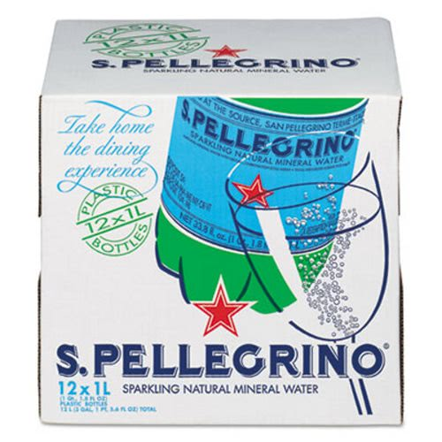San Pellegrino Sparkling Natural Mineral Water, 33.8 Fl Oz, 12 Count by Nestle