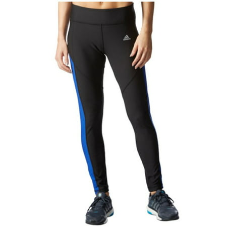 7803c074ba8608 Adidas - Adidas Womens Ultimate Fleece Tights - Climawarm Running Leggings  (Black/Bold Blue, Large) - Walmart.com