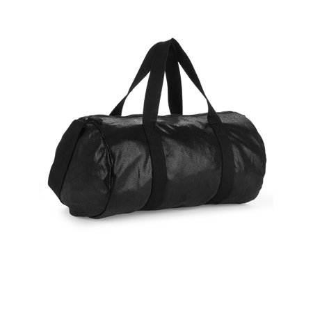 No Boundaries Black Metallic Suede Duffle