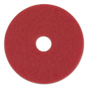 "Premier 4020RED Standard Floor Pads, 20"" Dia, Red, 5/carton"
