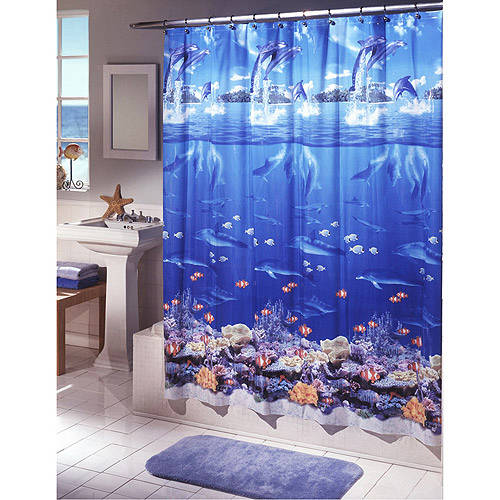 Ex-Cell Home Fashions Sea Life Vinyl Shower Curtain by Generic