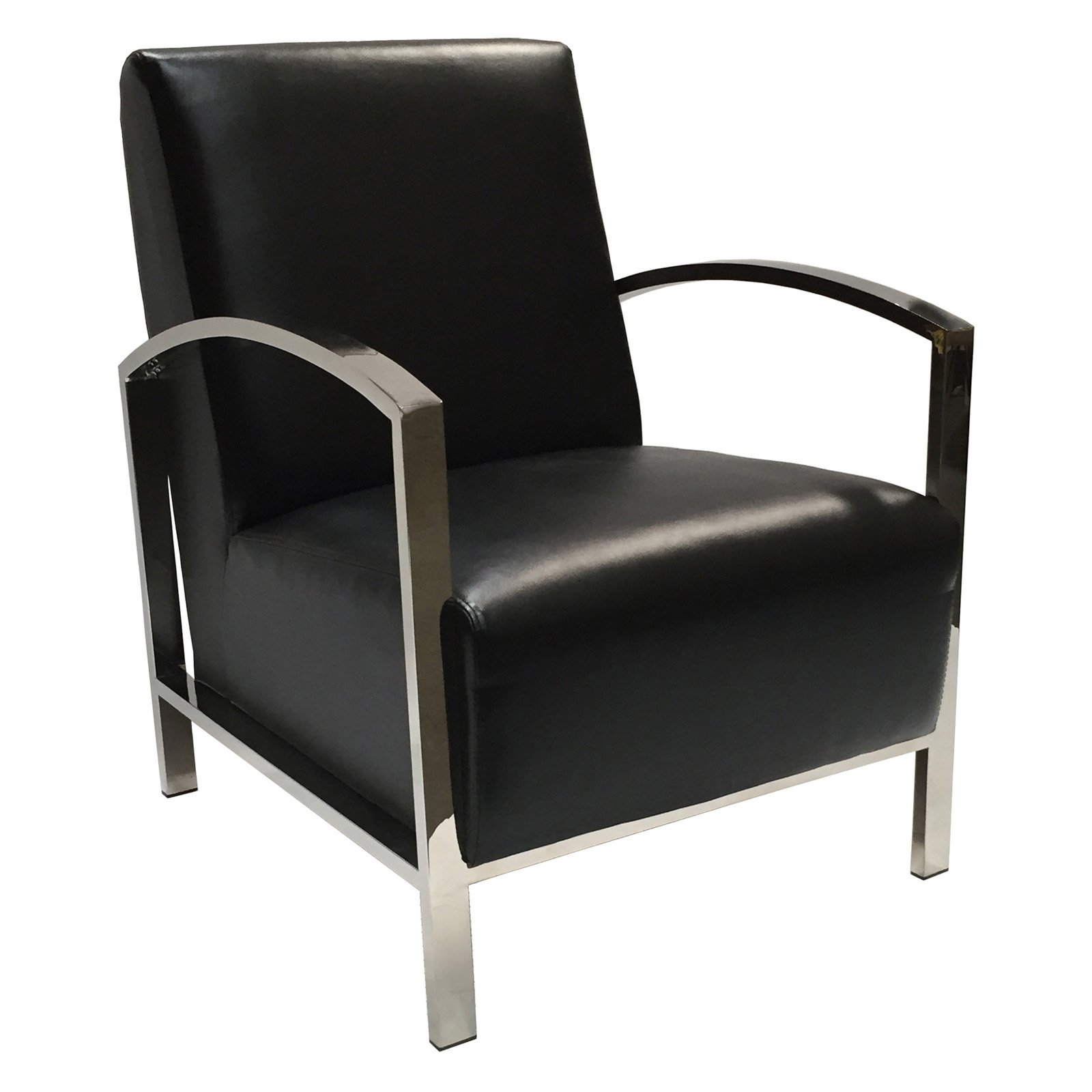 Allan Copley Designs Theresa Lounge Chair in Black