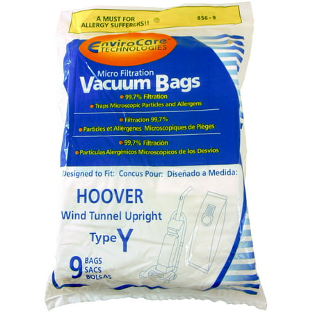 Replacement Vacuum Bags for Hoover Vacuum Cleaners Using Type Y - Designed to fit Vacuum Bags for Nutone Vacuums using Type Y Vacuum Bag - 9 Bag Package