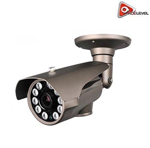 Acelevel 2.4MP HD TVI Bullet Camera with 2.8mm Vari-Focal Lens and 10 Super IR LEDs (Gray Color)