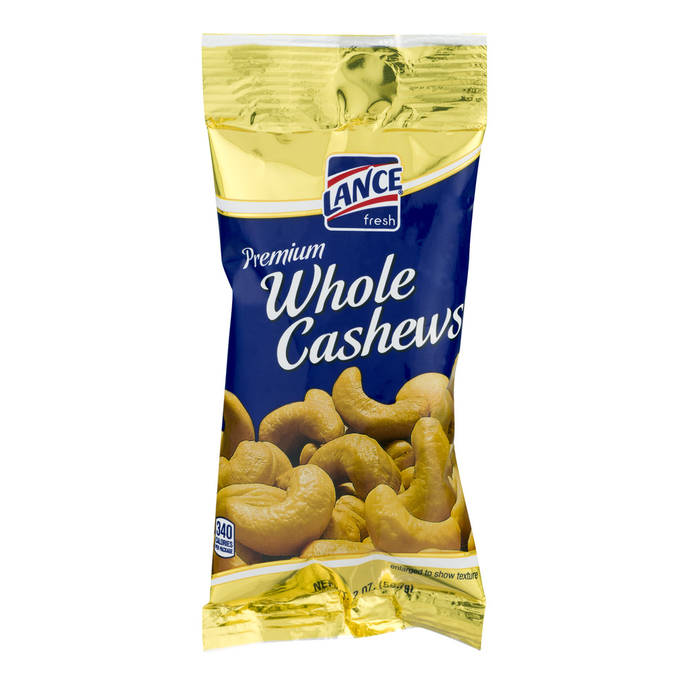 Lance Premium Whole Cashews, 2.0 OZ