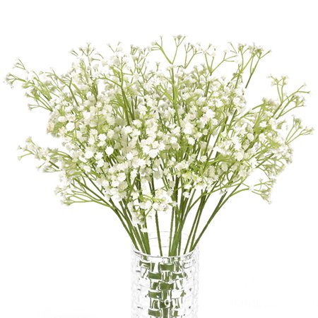 - 9 Branches Artificial Gypsophila Baby Breath Fake Flower Bouquet Silk Plants Wedding Party/Home Decoration Gift