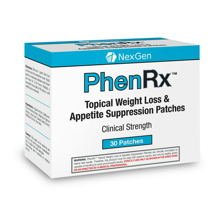 PhenRx Topical Patches - Advanced Formula Diet Patches for weight loss and appetite suppression  with sustained energy, focus, and mood
