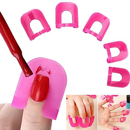 Nail Art Extension Sticker 26 Pieces Template Clip Guide Form Plastic Professional Nail Tools Gel Nail Polish Curl Tips for Women - image 1 of 1