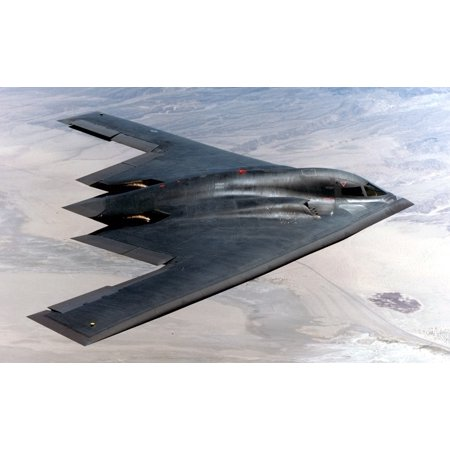Canvas Print Military Flying Stealth Bomber Jet Airplane Stretched Canvas 10 x 14 - Jets Flying