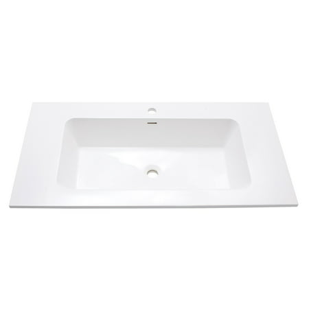 Integrated Bowl - Avanity VersaStone 39 in. Integrated Bowl Bathroom Sink