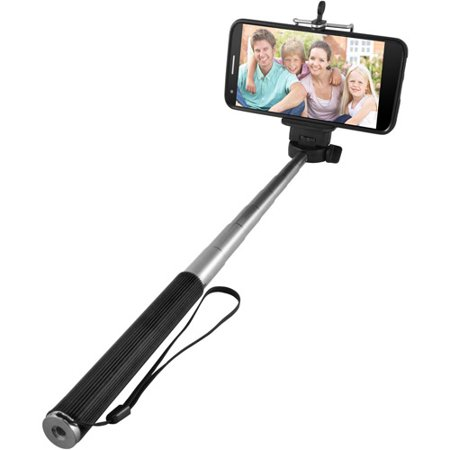 ematic extendable selfie stick with bluetooth shutter release. Black Bedroom Furniture Sets. Home Design Ideas