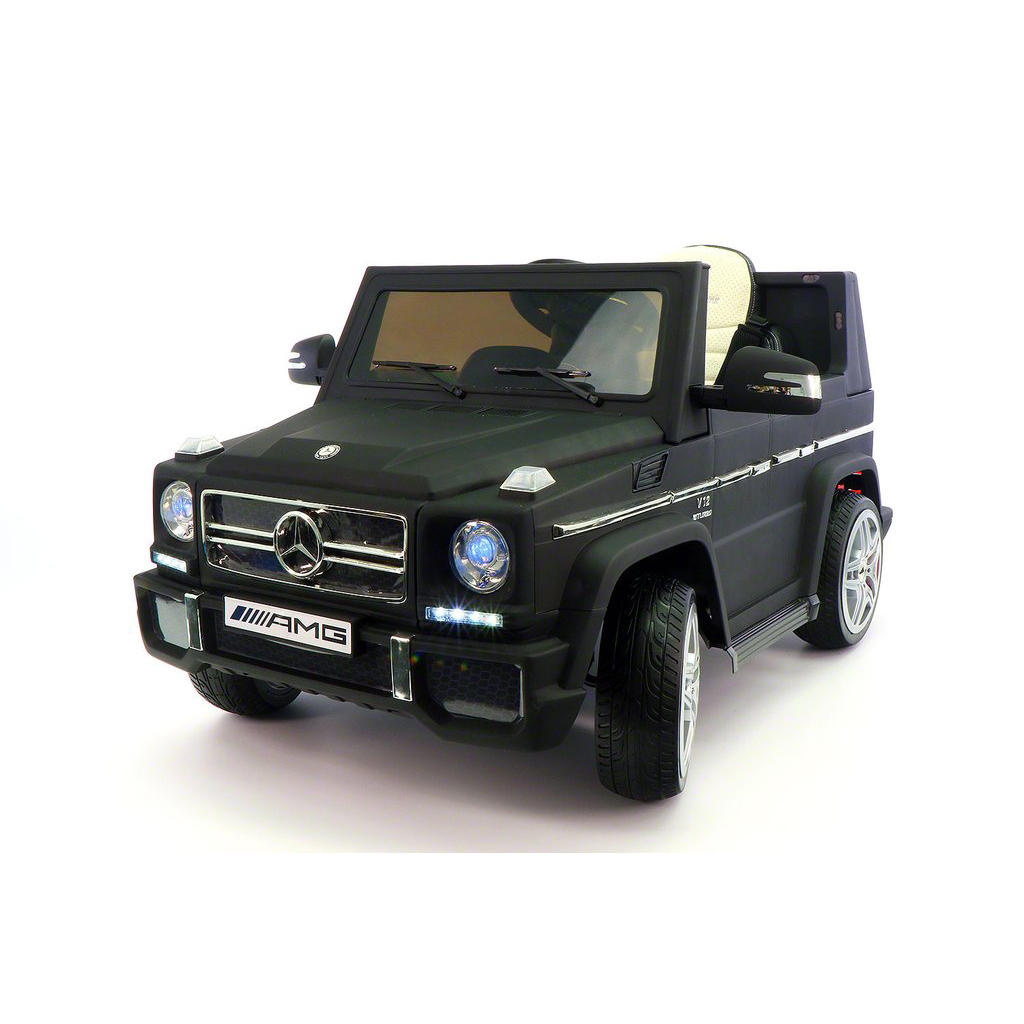 2017 Licensed Mercedes G65 AMG Electric Kids Ride-On Car, MP3 Player, AUX  Input,  Rubber Tires, PU Leather Seat With 5 Point Safety Harness, 12V Battery Powered, Parental Remote | Matt Black