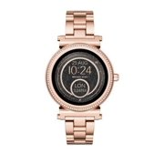 Michael Kors Women's Access Sofie - 42 mm - rose gold-tone - smart watch with link bracelet - display 1.19 - 4 GB - Bluetooth 4.1 LE