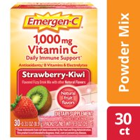 Emergen-C Vitamin C Drink Mix, Strawberry Kiwi, 1000 mg, 30 Ct