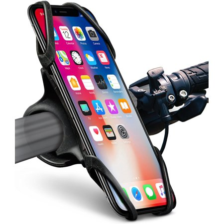 separation shoes 8fc7e fd4a4 Okra Bike Phone Mount Bicycle Holder for iPhone X 8 7 6 6s Plus, [Web Grip]  Silicone Bicycle Motorcycle Universal Grip Cradle Clamp Holder for all ...