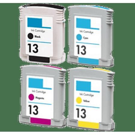 Zoomtoner Compatible HP OfficeJet K850 HP 13 INK / INKJET Cartridge Set Black Cyan Magenta Yellow - image 1 of 1