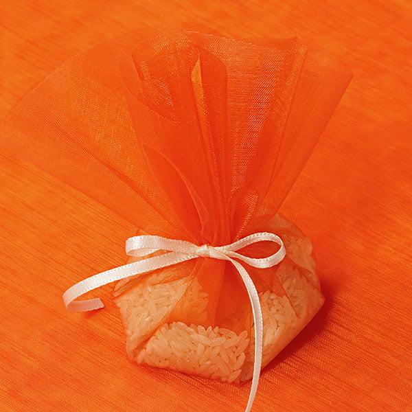 "10"" Orange Organza Circle Wrap   Quantity: 12 by Paper Mart"