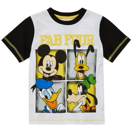 Disney Little Boys Fab Four Mickey Pluto Donald Goofy (Mickey Donald And Goofy In The Little Mermaid)