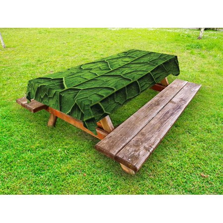 Green Outdoor Tablecloth Brazilian Rain Tropic Exotic Forest Tree - Huge picnic table