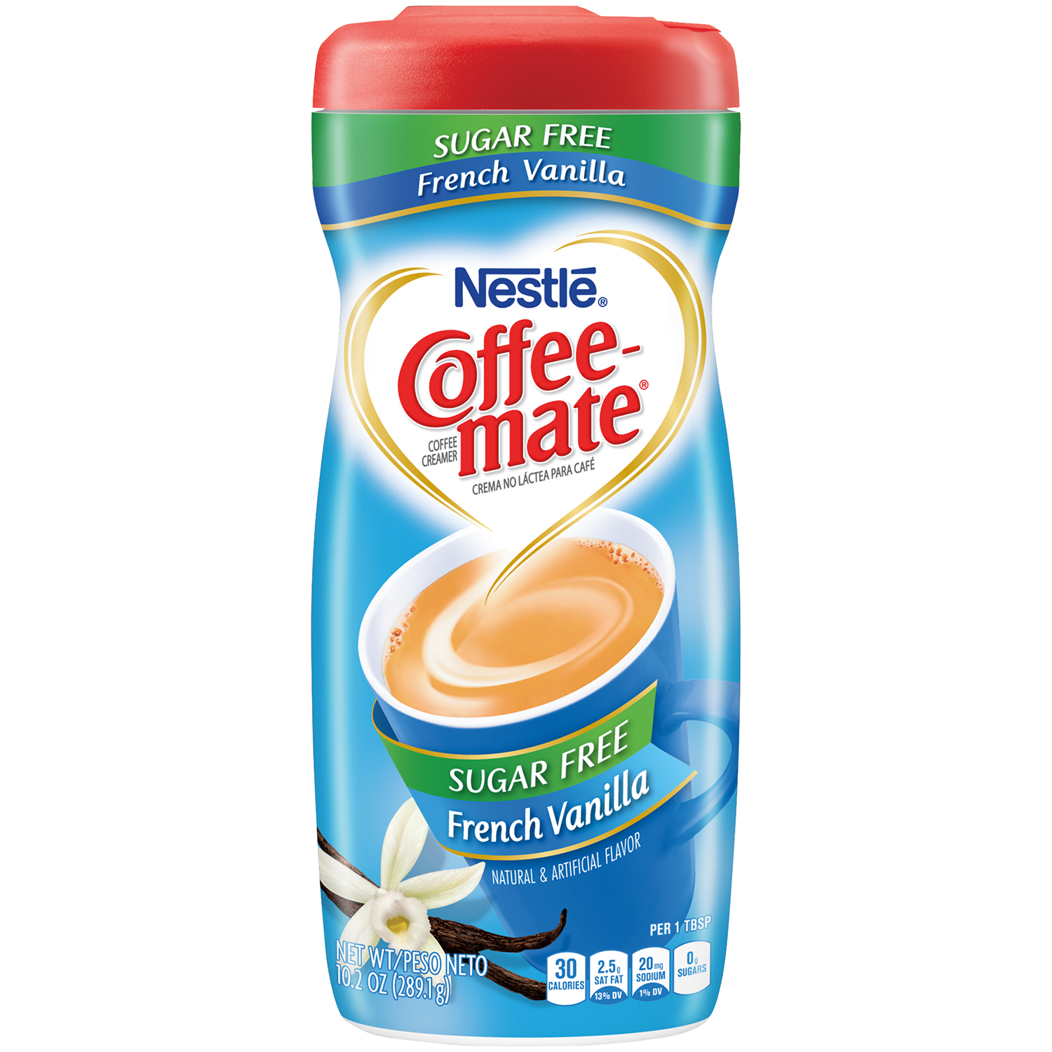 Nestle Coffeemate Sugar Free French Vanilla Powder Coffee Creamer 10.2 oz. Canister