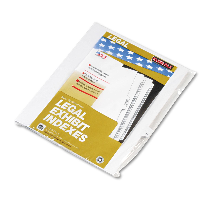 """80000 Series Legal Exhibit Index Dividers, Side Tab, Printed """"16"""", 25/Pack"""