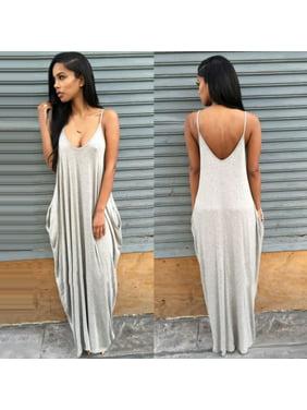 f4f07b7dad5 Product Image Plus Size Women Boho Long Maxi Dress Loose Backless Summer  Beach Sundress Jumpsuit Sleeveless Casual