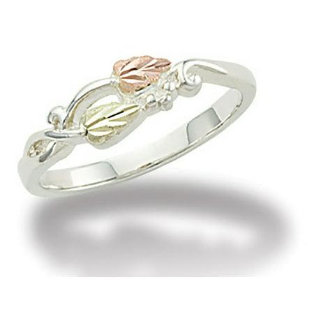 Landstroms Black Hills Gold on Silver Twist Ring Black Hills Gold Silver Toe Ring