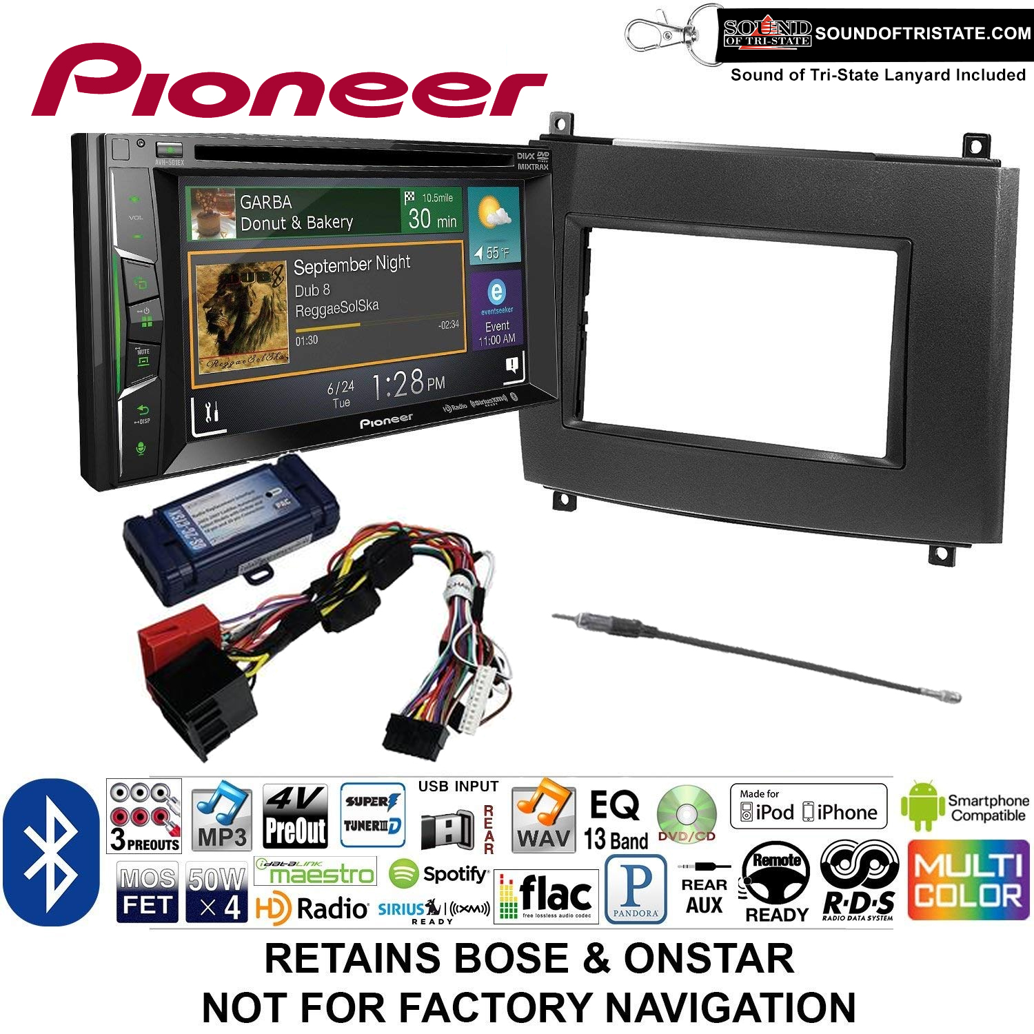 [SCHEMATICS_49CH]  Pioneer AVH-501EX Double Din Radio Install Kit with DVD/CD Player Bluetooth  Fits 2003-2007 Cadillac CTS, 2004-2006 SRX + Sound of Tri-State Lanyard -  Walmart.com - Walmart.com | Cadillac Cts 2007 Radio Wiring Harness |  | Walmart