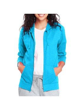 6930274dd Product Image Hanes Women's Slub Jersey Cotton Full Zip Hoodie
