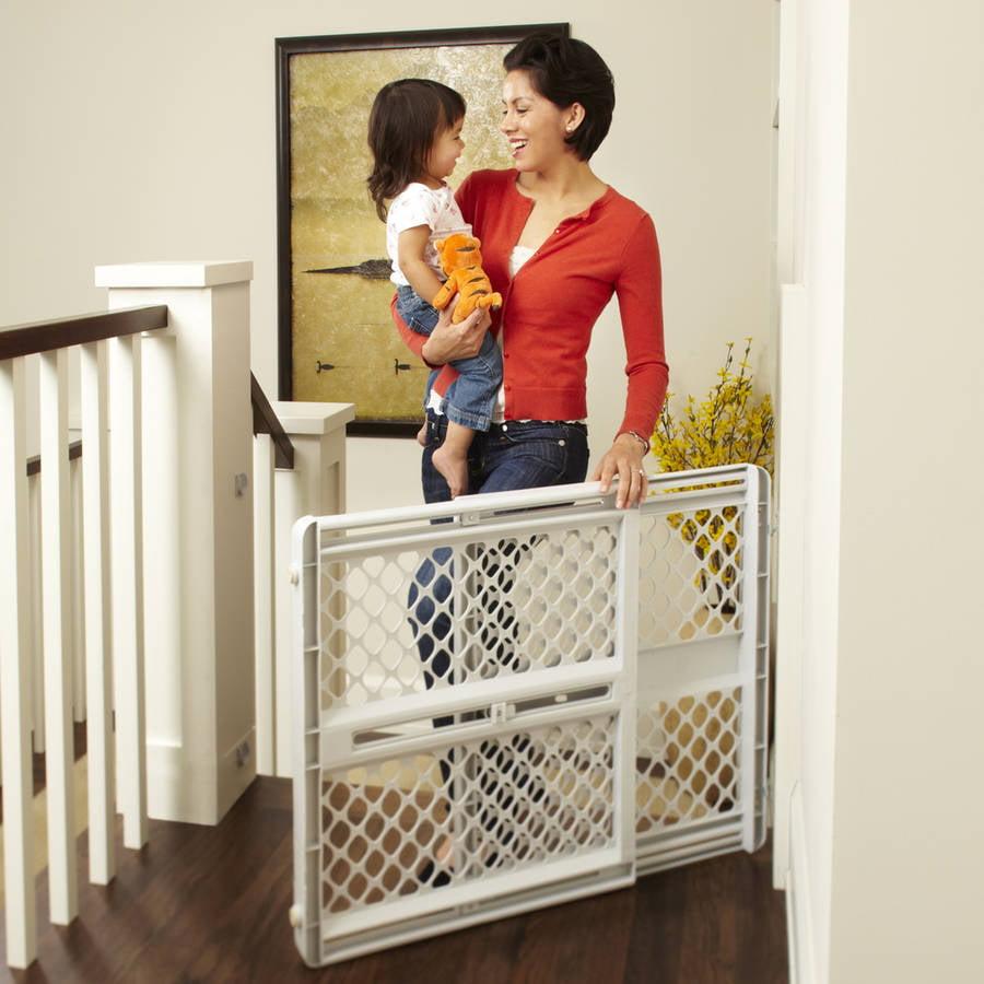 north states classic baby gate '''' light gray  walmartcom -