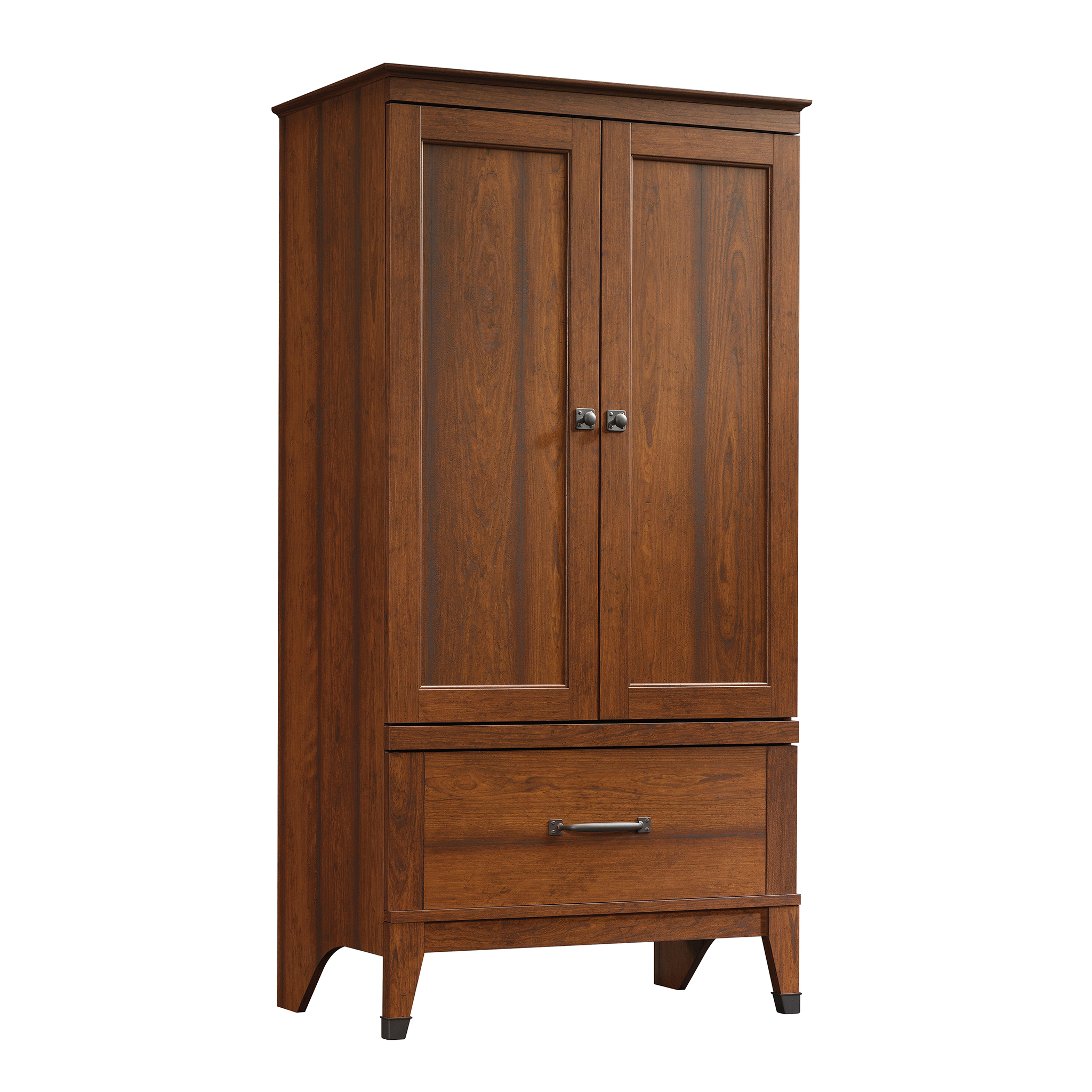 Bon Sauder Carson Forge Armoire, Washington Cherry Finish