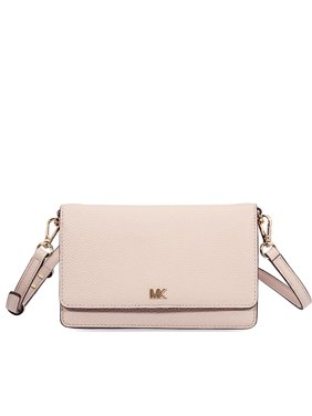 75c12d248f28 Product Image Michael Kors Pebbled Leather Convertible Crossbody- Soft Pink