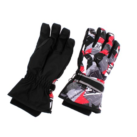 Adults Winter Sports Outdoors Skiing Snowboard Ski Gloves Black L Pair - image 4 of 4