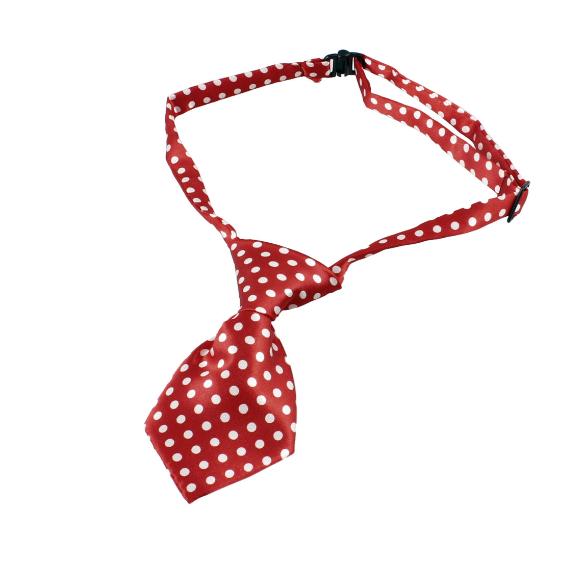 Pet Puppy Dog Cat Dots Pattern Adjustable Decoration Grooming Necktie Red - image 1 of 1