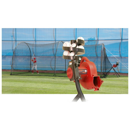 Batting Cage Package (Heater Sports 24 ft. BaseHit Pitching Machine & Xtender Batting Cage)