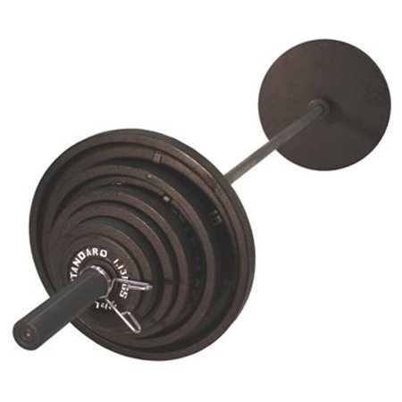 bef12074827 USA Sports by Troy Barbell 300 lb. Olympic Black Weight Set with Black Bar  - Walmart.com