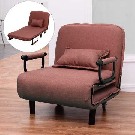 - Costway Sofa Bed Folding Arm Chair 29.5'' Width Convertible Sleeper Leisure Recliner New