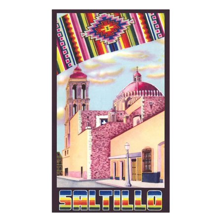 Poster for Saltillo, Mexico, Old Church Print Wall Art