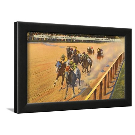 Horse Racing, Saratoga Springs, New York Framed Print Wall Art ()