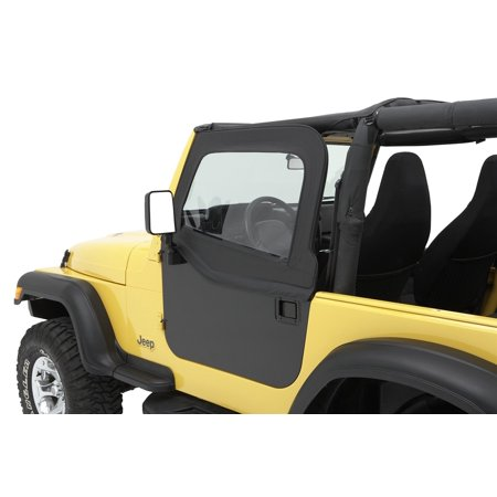 Bestop 51795-15 Jeep Cj7/Wrangler Highrock 4X4 Element Doors Upper Fabric Half-Door Set, Black Diamond](Denim And Diamonds Party Decorations)