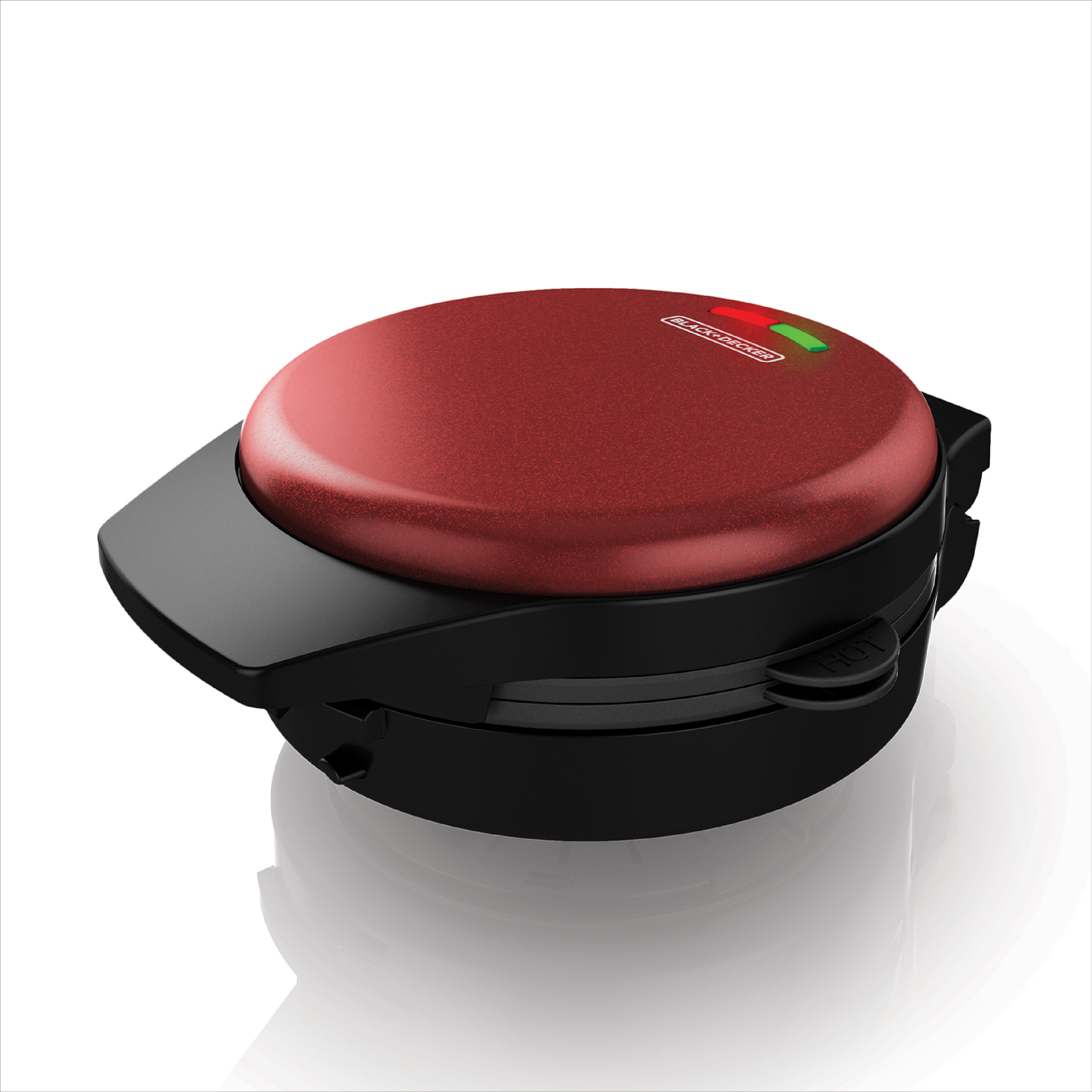 BLACK+DECKER Removable Plate Waffle Maker, Maroon, WM700R