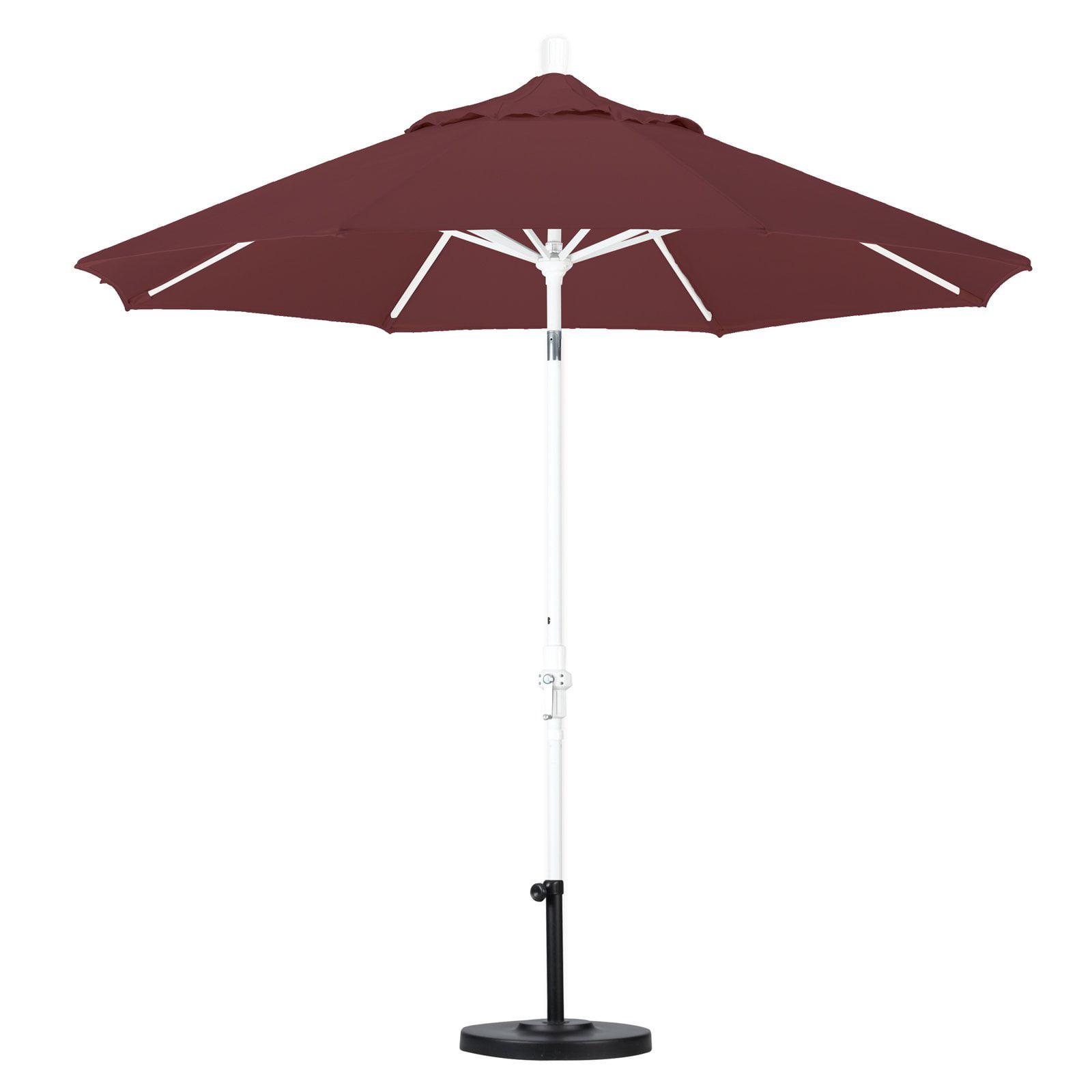 California Umbrella 7.5' Market Patio Umbrella with Collar Tilt in White