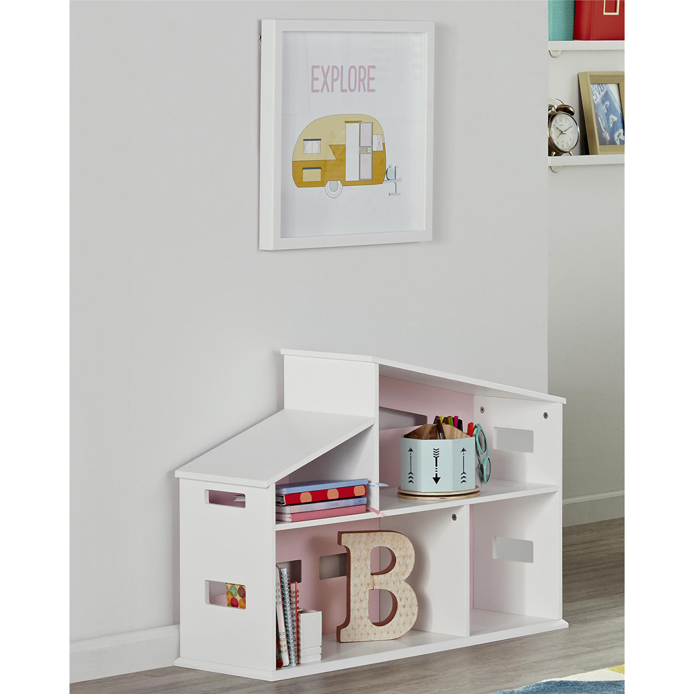 Novogratz Addison Dollhouse Bookcase, White