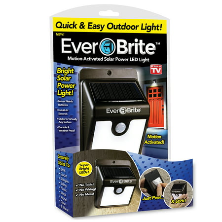 Ever Brite Light Solar Powered Outdoor LED Motion Sensor Path & Security Light As Seen On