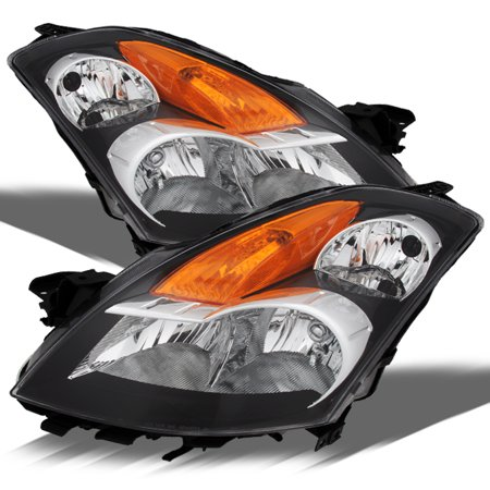 Nissan Xterra Replacement Headlight - Fits 07-09 Nissan Altima 4 Door Sedan Black Headlight Lamps Halogen Type