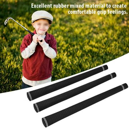 Yosoo 13Pcs Durable Soft Rubber Golf Club Grip Handle Cover Accessories for Replacement, Golf Club Grip Black, Club Grip
