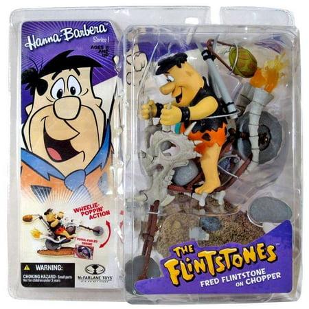 McFarlane Hanna-Barbera Series 1 Fred Flintstone on Chopper Action Figure ()