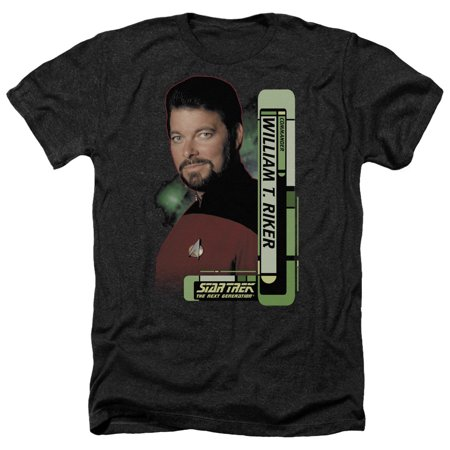 Star Trek - Riker - Heather Short Sleeve Shirt - Medium